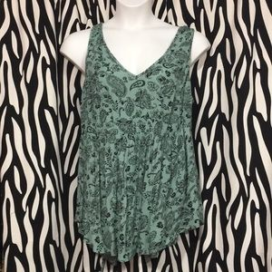 Paisley green top